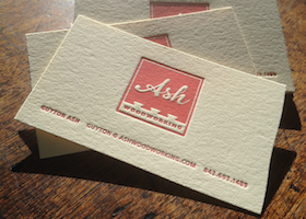 Ash Woodworking Business Cards